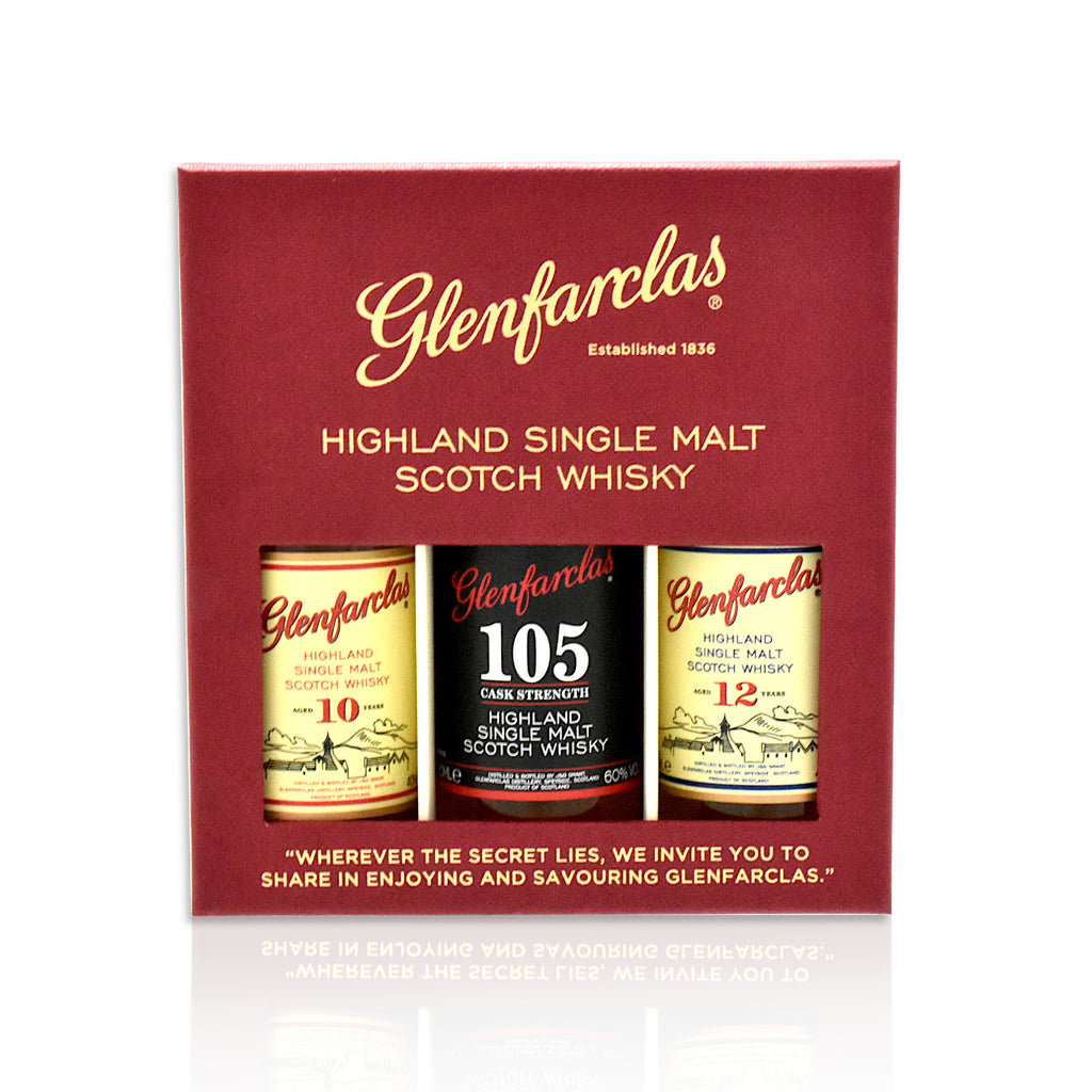 Glenfarclas Miniature Gift Pack 3x 5cl bottles