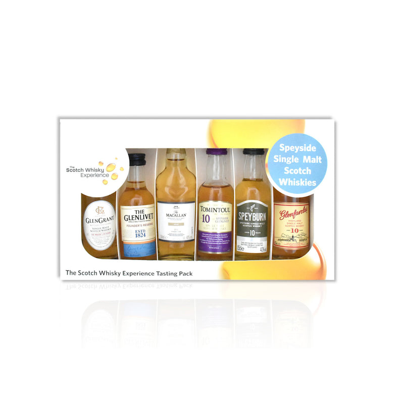 Speyside miniature whisky tasting pack of 6x 5cl bottles
