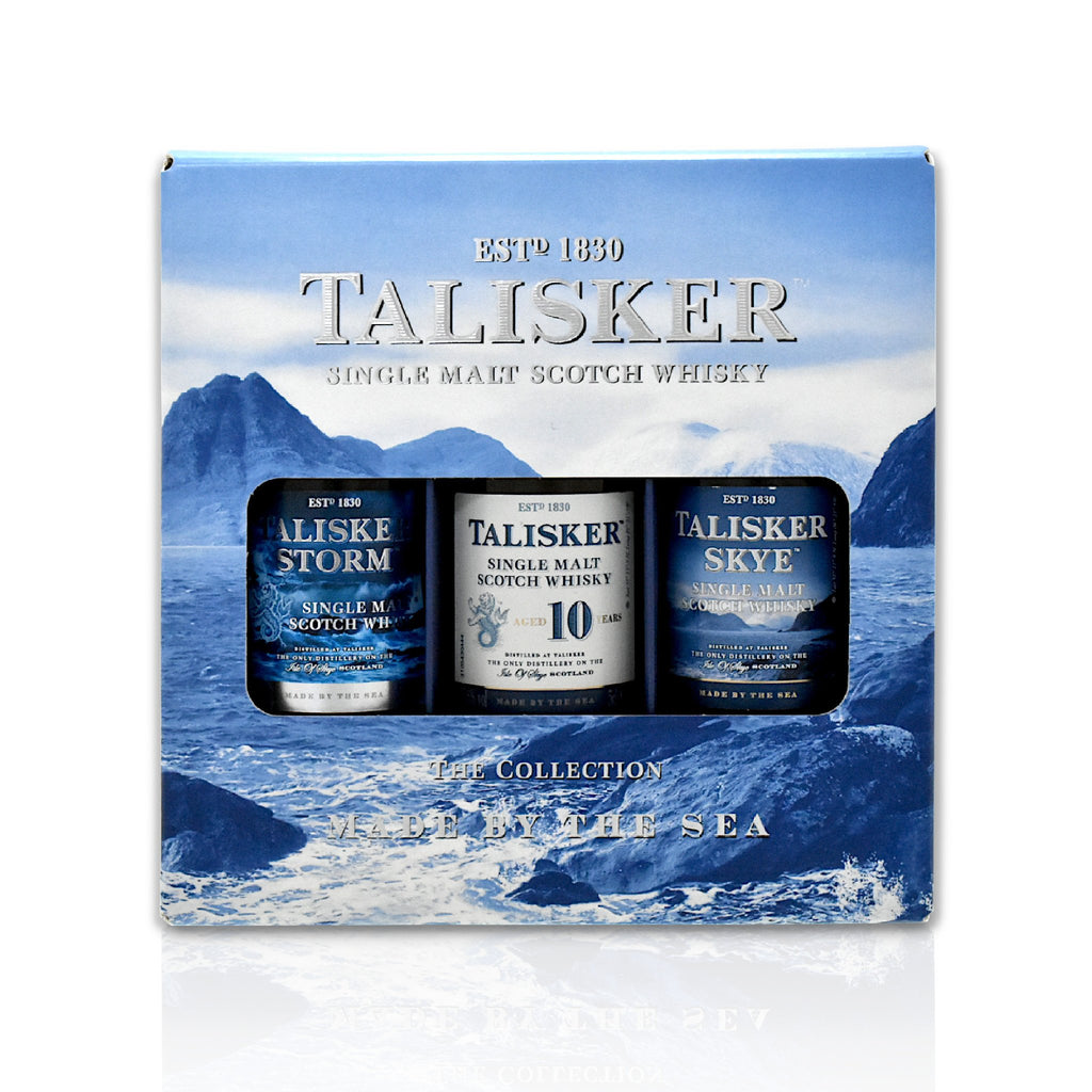 Set of 3 x 5cl Talisker Scotch whisky minatures