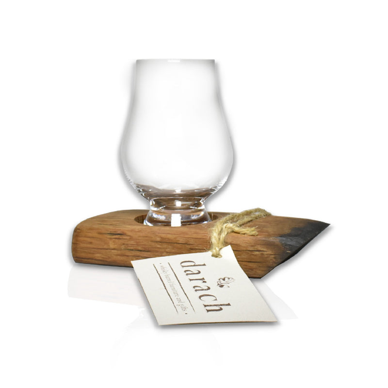 Whisky World Stave tasting Tray Glass 1 Glass