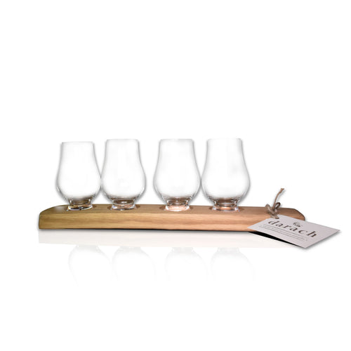 Whisky World Stave tasting Tray Glass 5 Glass