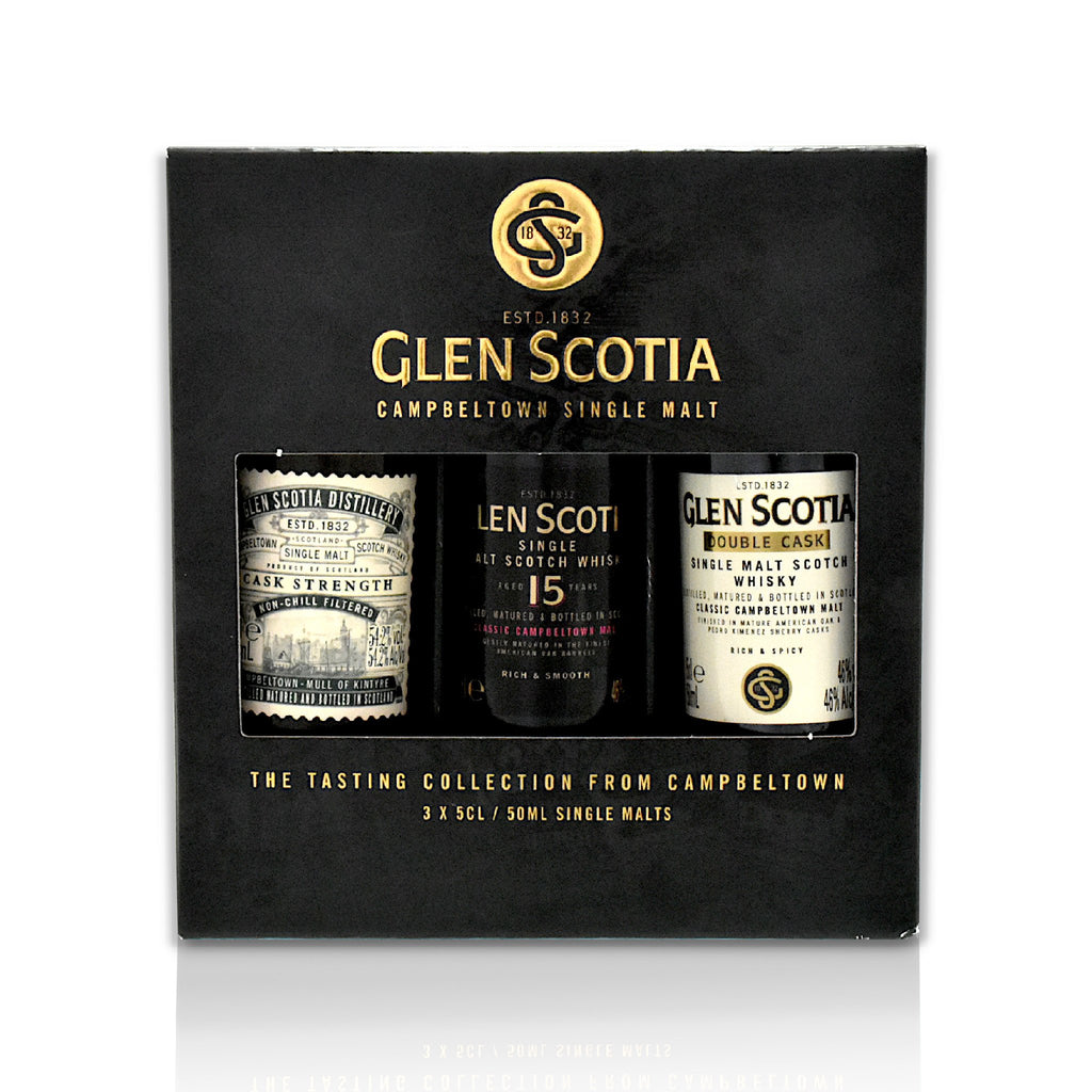 Set of 3 x 5cl Glen Scotia Scotch whisky minatures