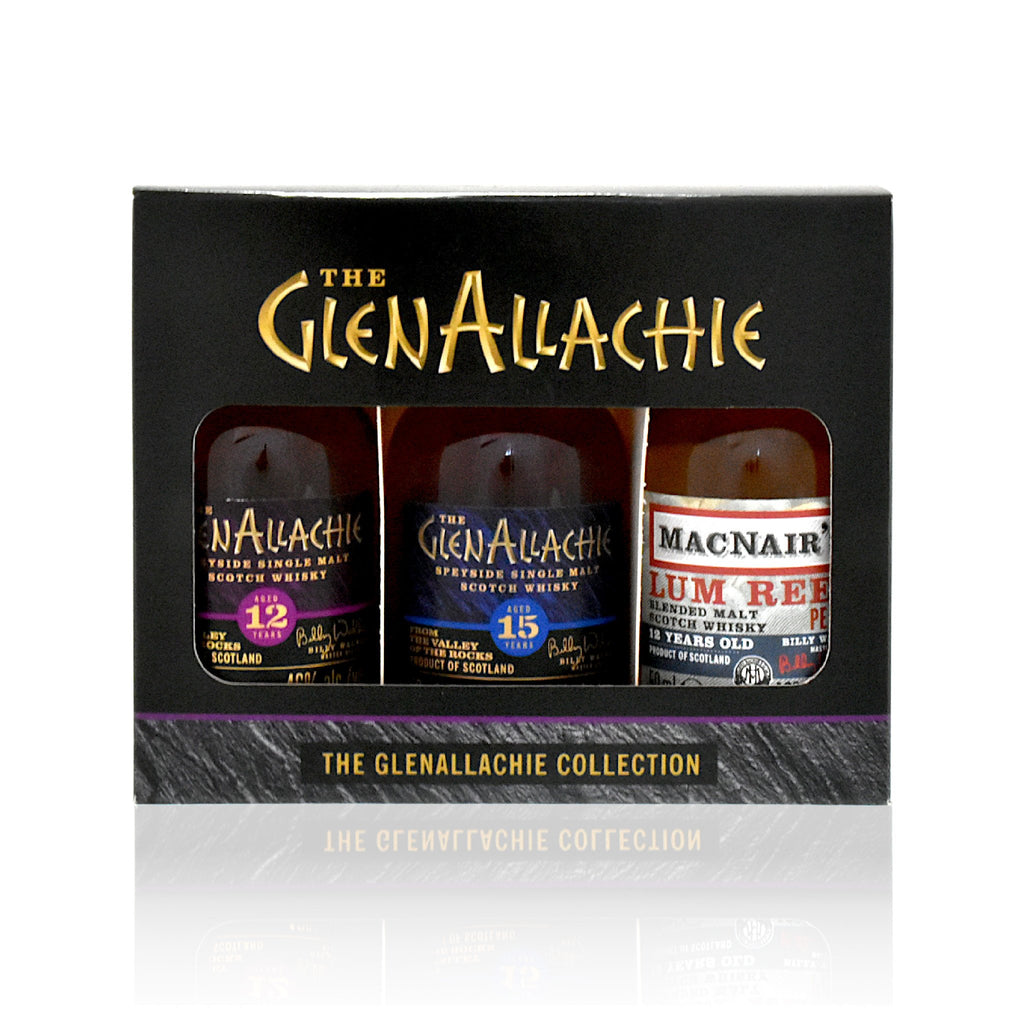Set of 3 x cl GlenAllachie Scotch whisky minatures