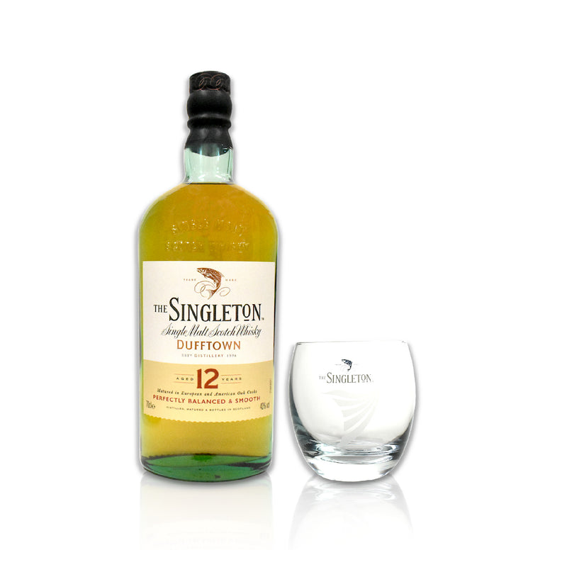 Singleton Gift Pack - 12 year old with engraved glass & ice mould