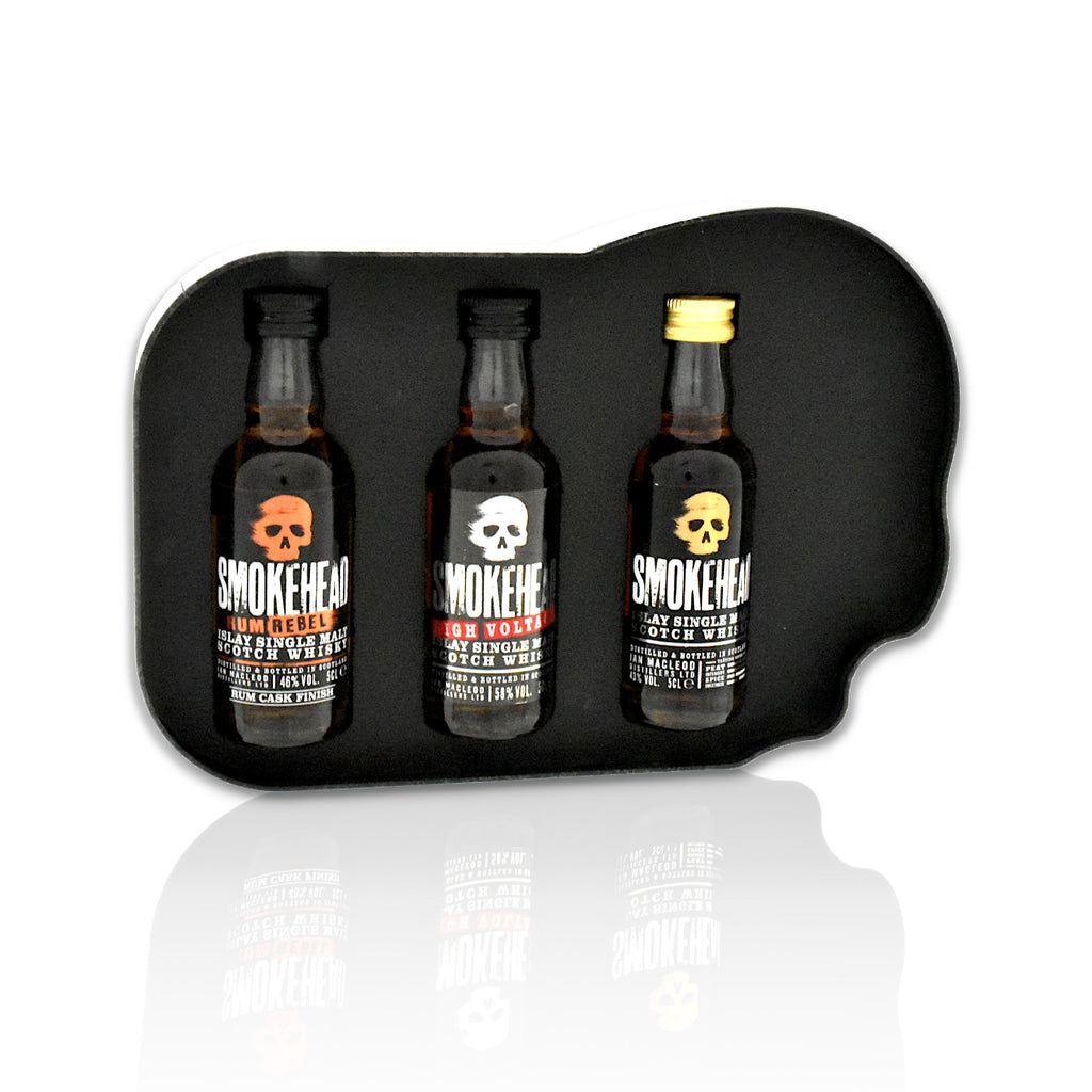 Smokehead Gift Tin 3x5cl bottles