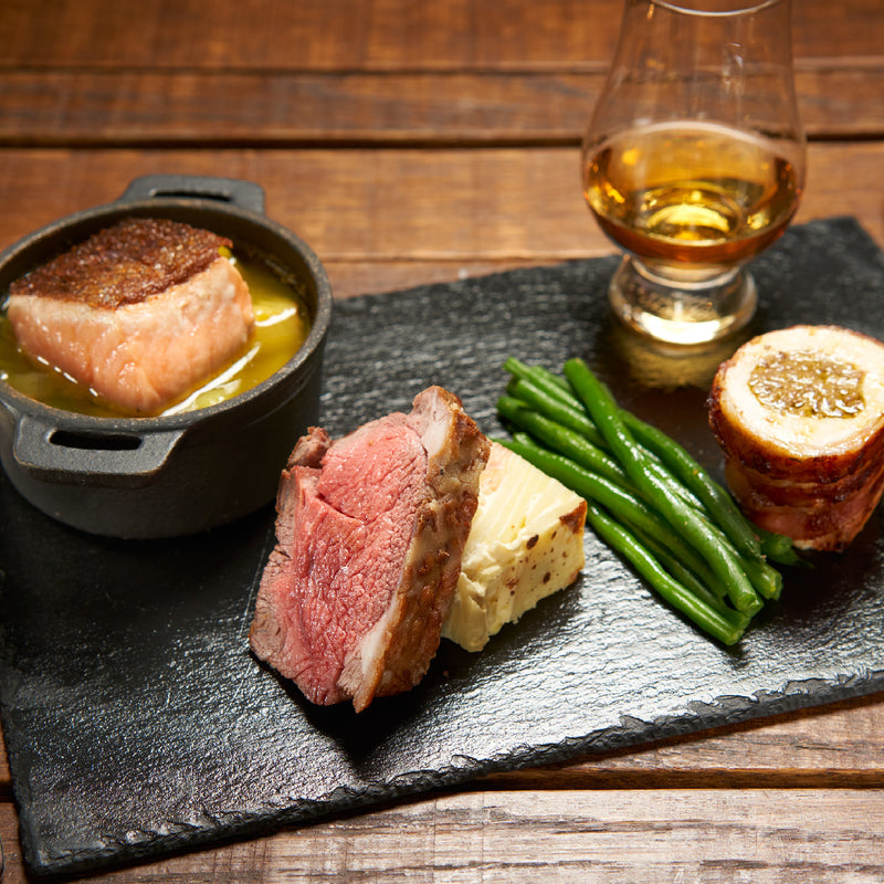 Taste of Scotland Whisky Tasting Tour and Dinner Ticket. Image of Dinner and a dram.