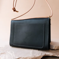 Adelaide Crossbody in Black Leather