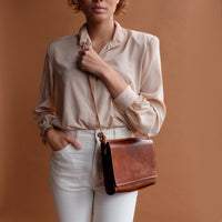 Adelaide Crossbody in Chestnut Leather