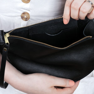 Kolo Clutch in Black Leather