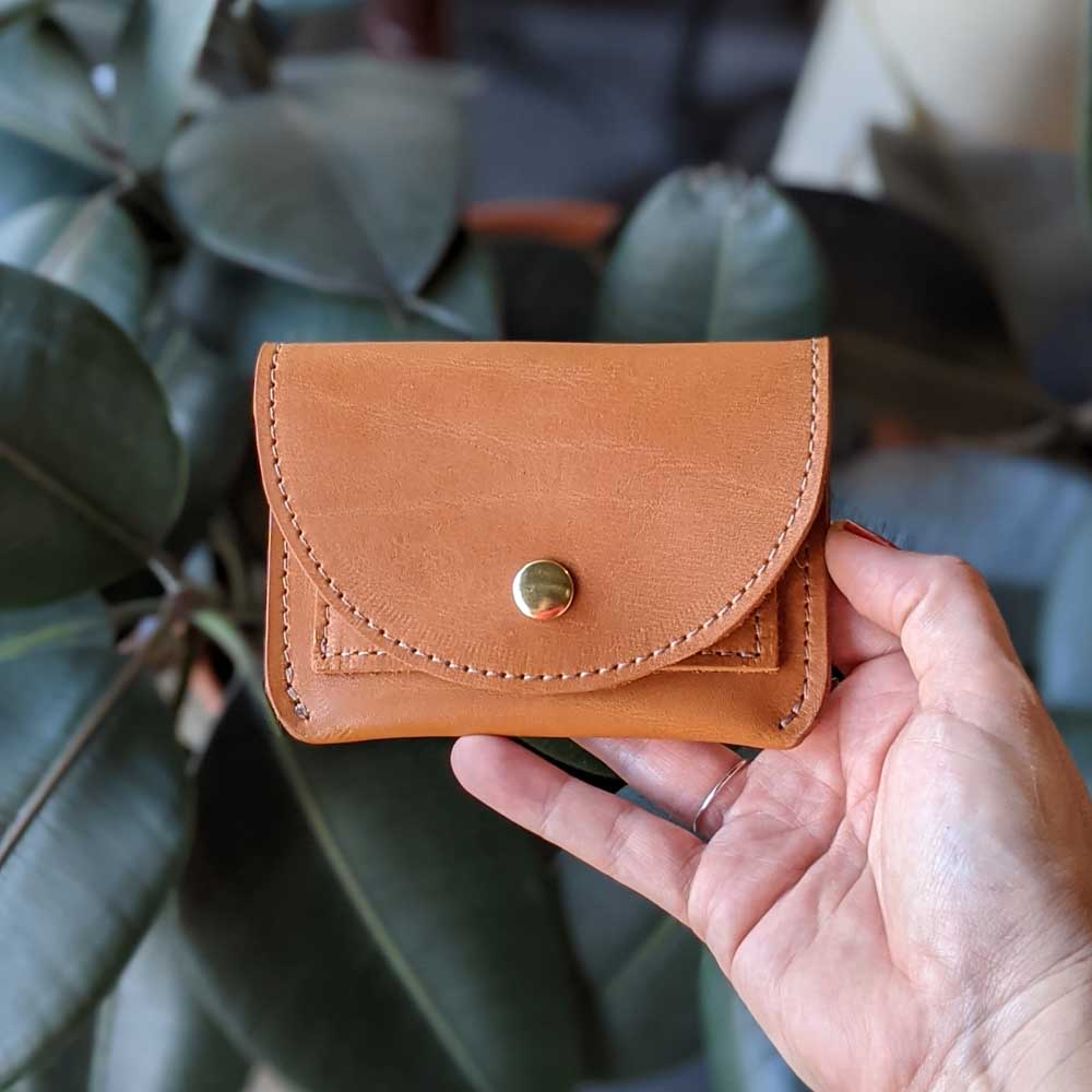 Murphy Snap Wallet - Caramel Tan