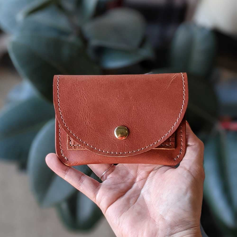 Murphy Snap Wallet - Rust Brown