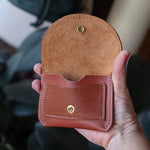 Load image into Gallery viewer, Murphy Snap Wallet - Rust Brown