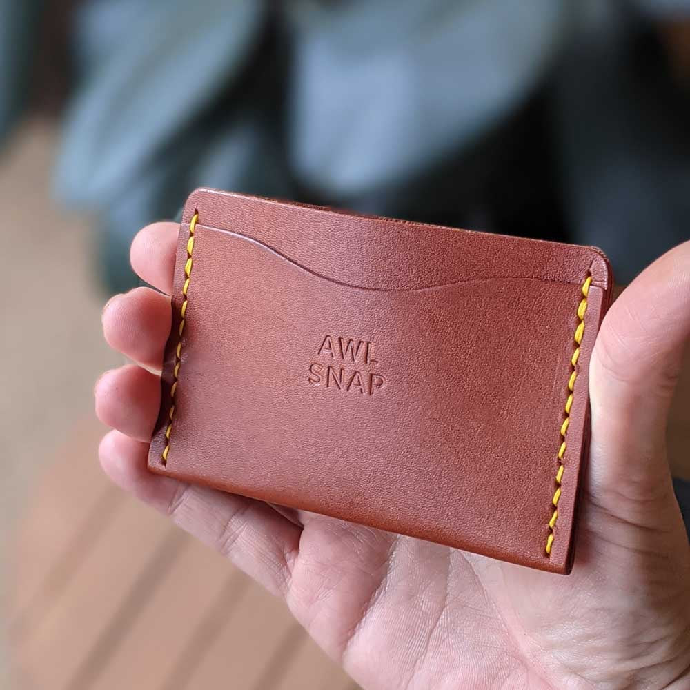 Three-Pocket Wallet in Chestnut Leather