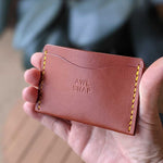 Load image into Gallery viewer, Three-Pocket Wallet in Chestnut Leather