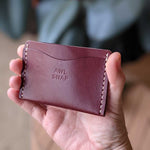 Load image into Gallery viewer, Three-Pocket Wallet in Burgundy Leather