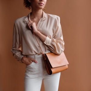 Adelaide Crossbody in Tan Leather