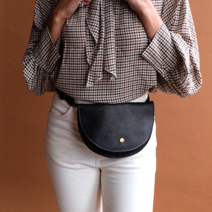 Ester Hip Pack in Black Leather