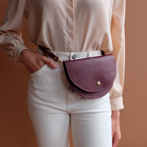 Ester Hip Pack in Burgundy Leather