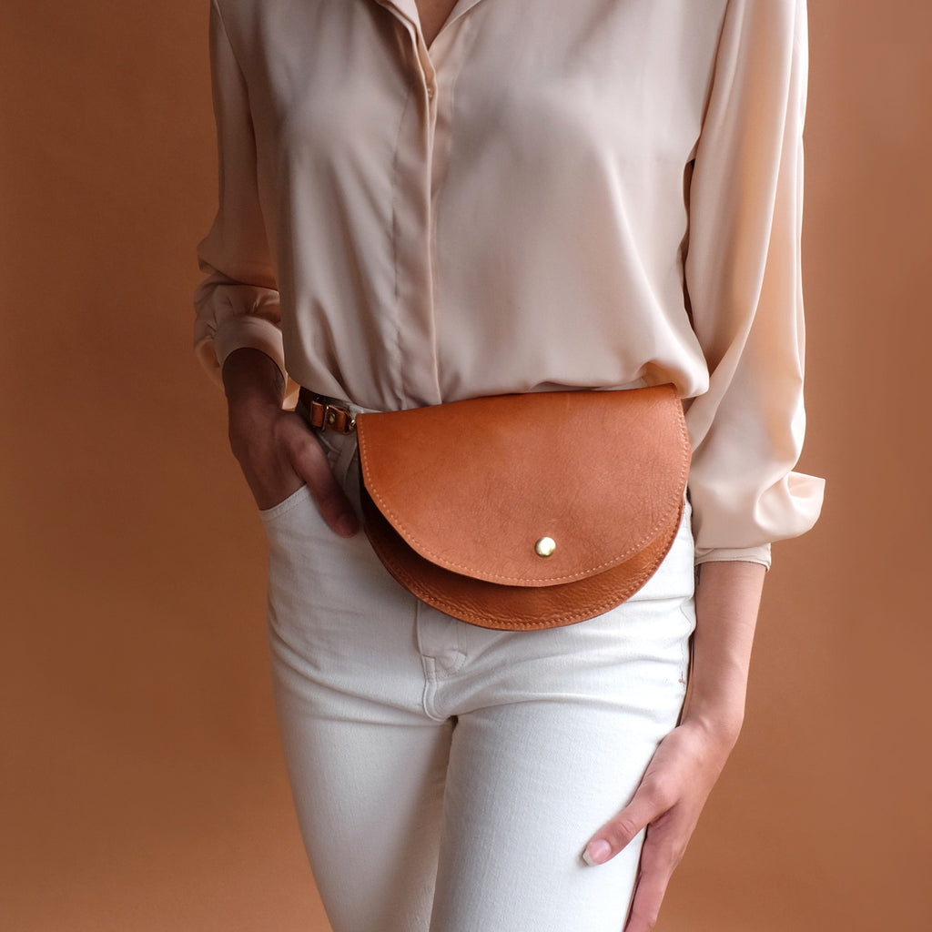 Ester Hip Pack in Tan Leather