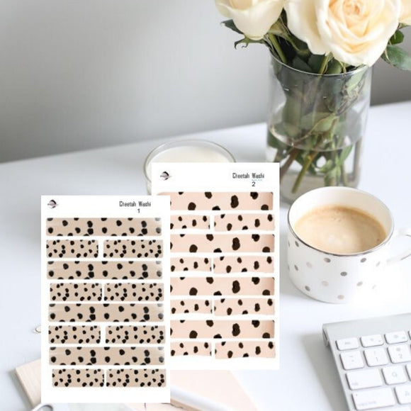Functional Washi strips Cheetah washi strips