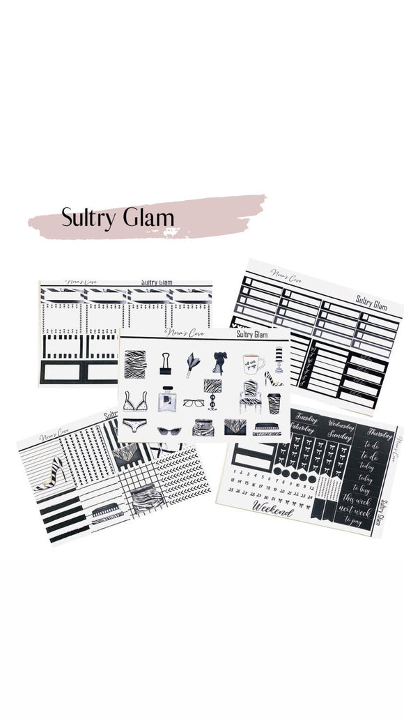 Sultry Glam Sticker Kit, Full 5 page Sticker Kit