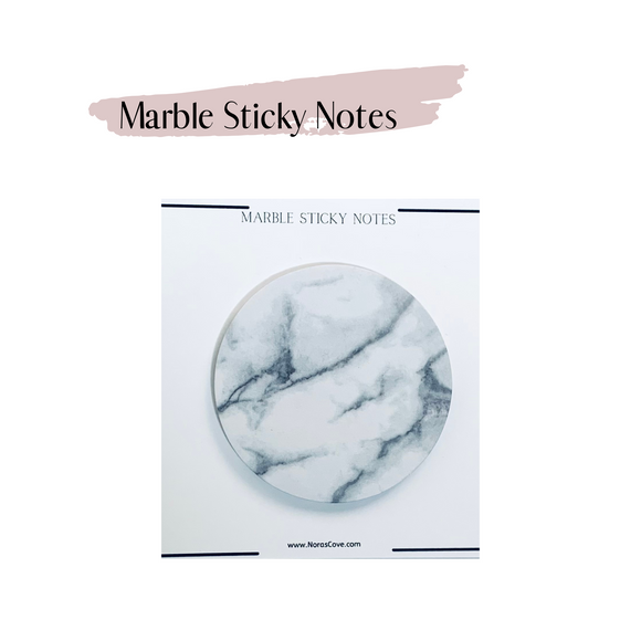 Marble circle sticky Notes