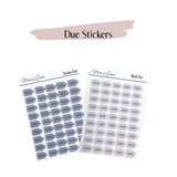 Due stickers