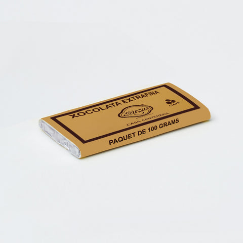Dark chocolate bar with coffee flavour