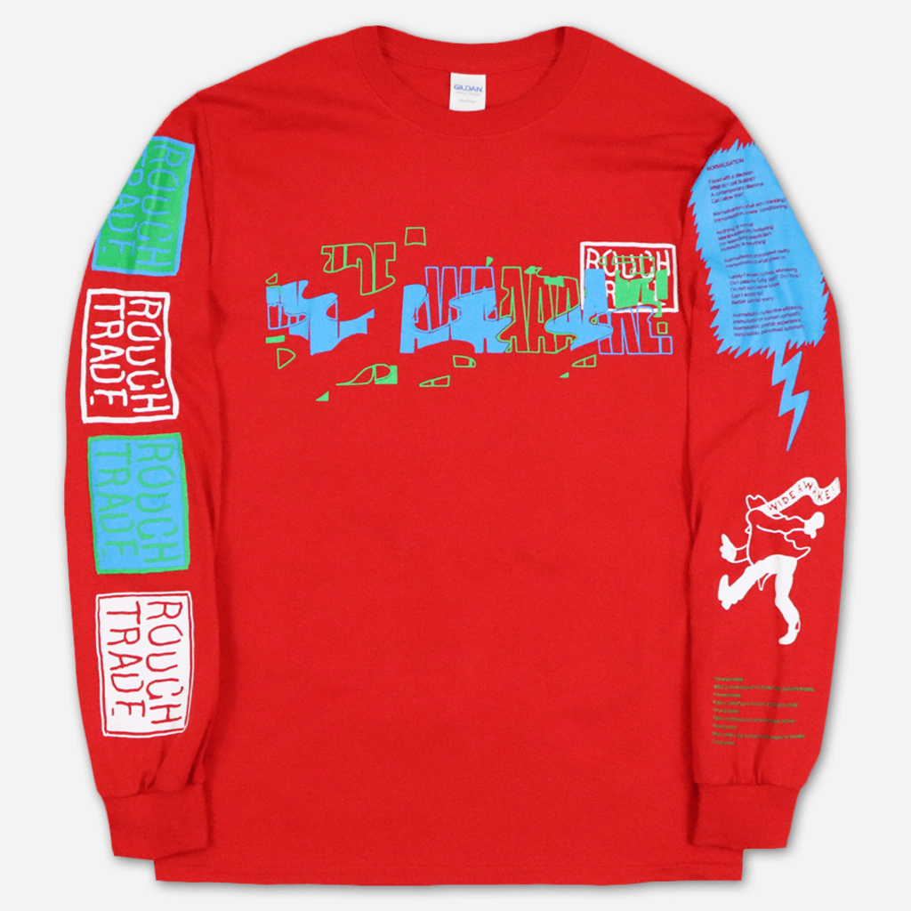 Wide Awake Rough Trade Red Long Sleeve T-Shirt