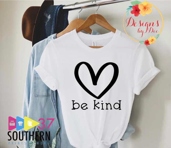 Be Kind Big Heart Tee-Wednesday Special