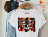 Merry Christmas Brushstroke Tee