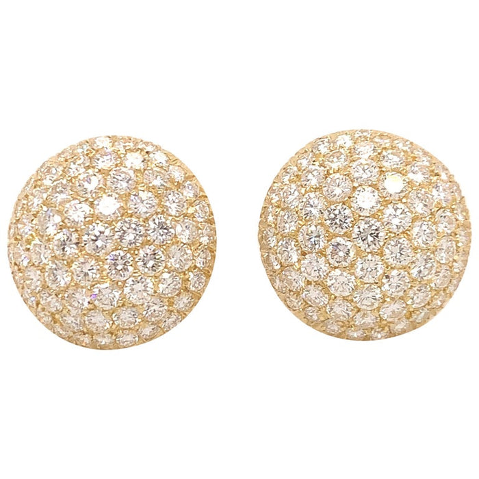 Diamond Bombe Button Earrings
