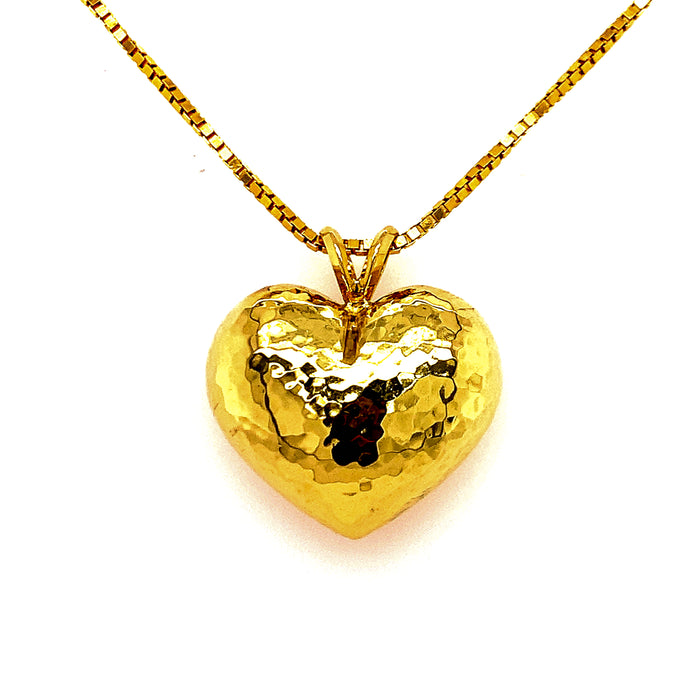 Paloma Picasso for Tiffany Hammered Heart Pendant