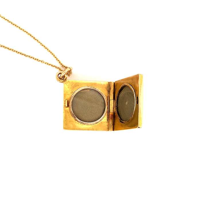 Antique Square Locket with Rose Cut Diamonds
