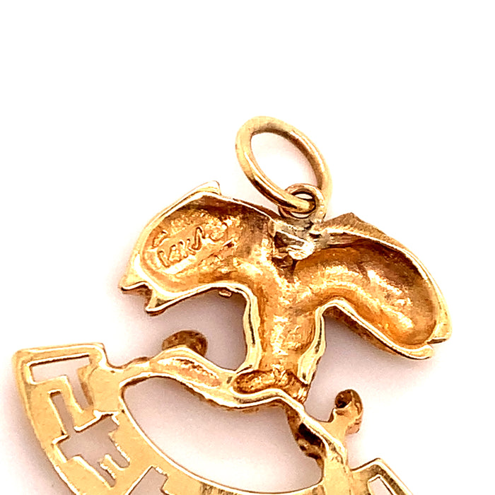 Intertwined Fish Pisces Charm