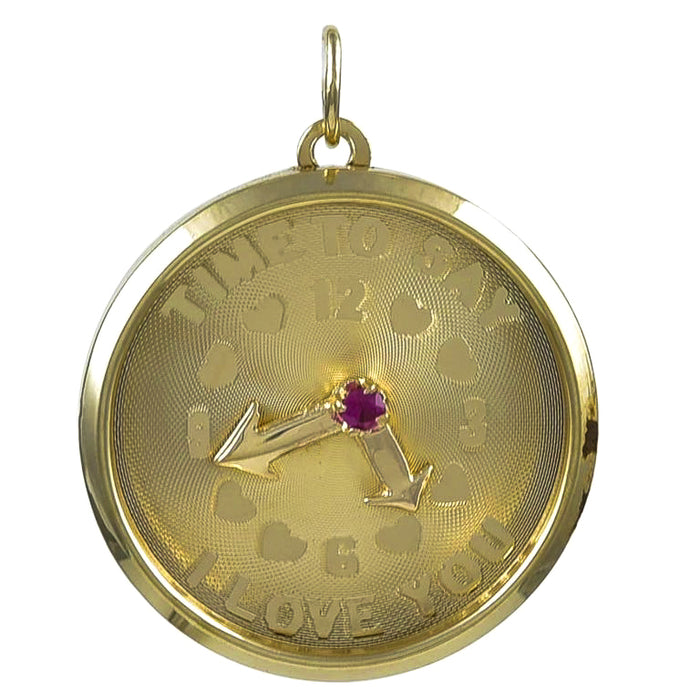 """Time To Say I Love You"" Clock Face Charm"