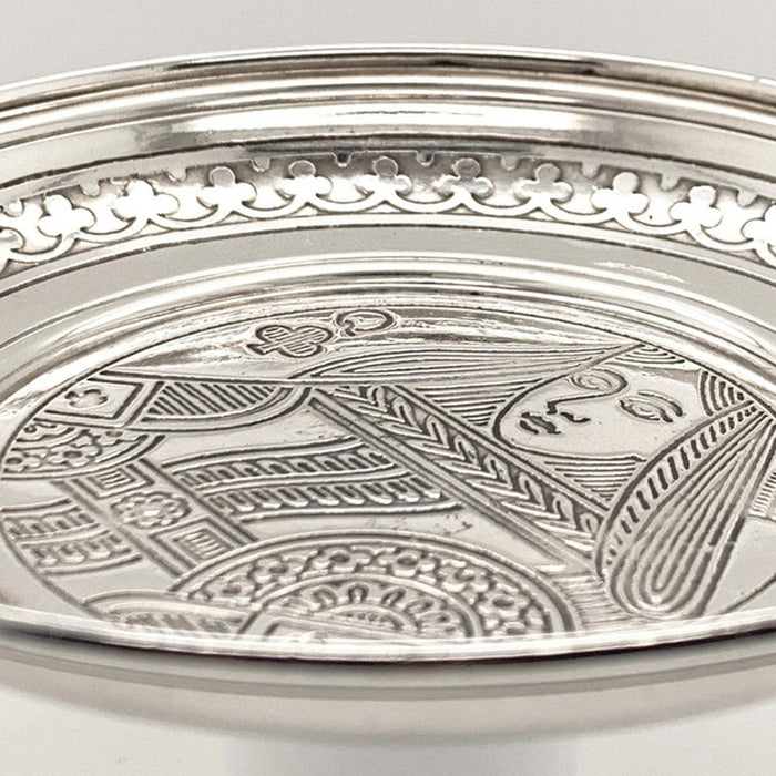 Tiffany & Co. Queen of Clubs Sterling Dish