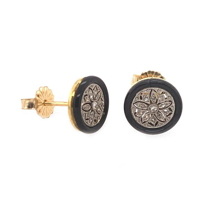 Antique Floral Filigree Earrings