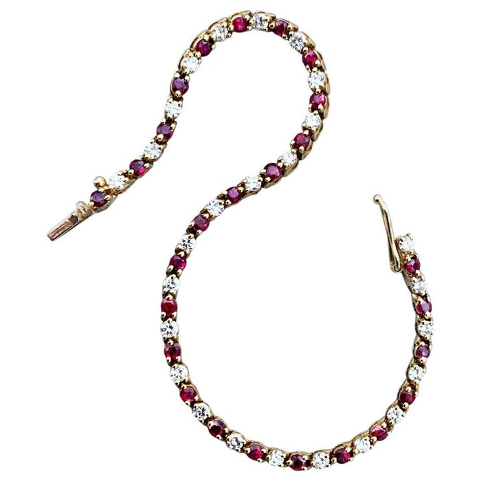 Tiffany & Co. Diamond Ruby Riviere Bracelet