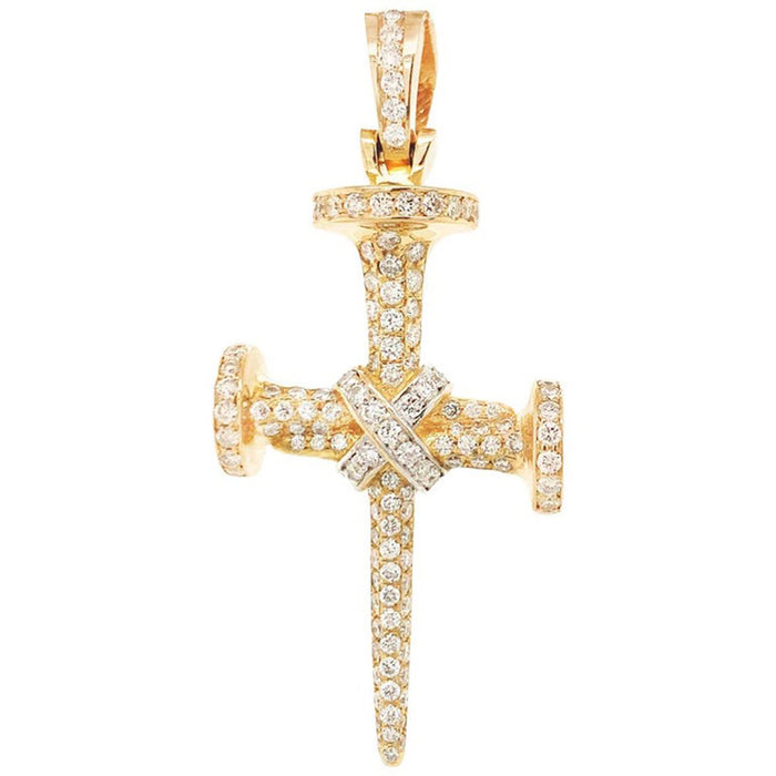 Nail Cross Diamond Charm