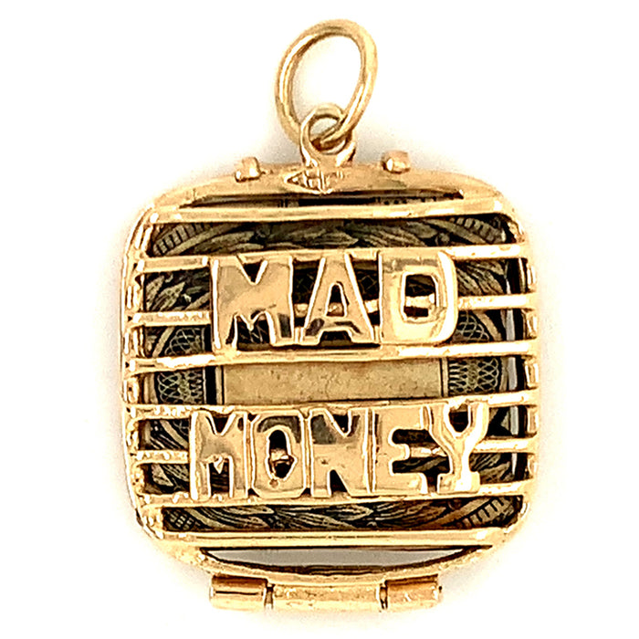 Retro 'Mad Money' Dollar Bill Charm