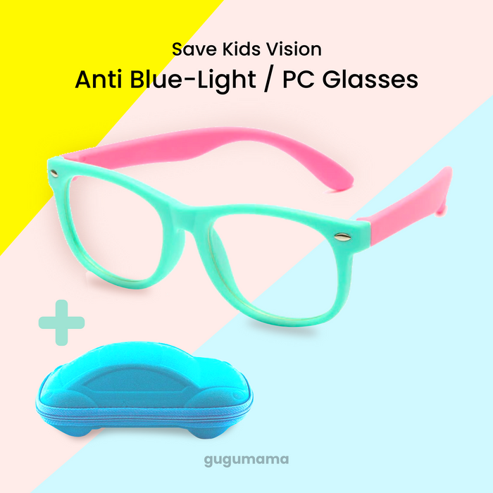 Kids Eyeglasses Blue-Light Protect from PC Phone Rays for Boys & Girls gugumama
