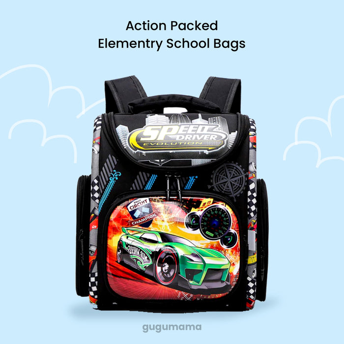 School Bag Action Packed for Boys & Girls Elementary School gugumama