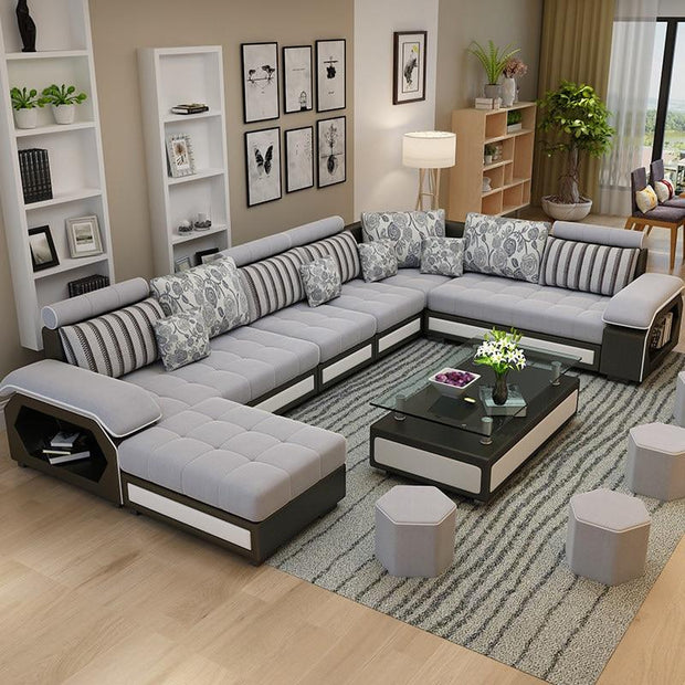 New Modern, Simple, Detachable And Washable U-shaped Living Room, Economic, Large And Small Family Furniture