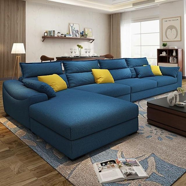 Fabric Sofa Combination Modern Simple Small Family Living Room sofa