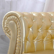 U-BEST High End Luxury Sofa Mirror Furniture Villa Sofa American style synthetic leather gold two-seat sofa