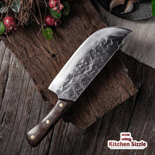 Load image into Gallery viewer, 7.6inch Handmade Forged Kitchen Knife Butcher Meat Chopping Cleaver Chef Knife 5CR15 Stainless Steel freeshipping - Kitchen Sizzle