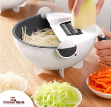 Load image into Gallery viewer, 9 In 1 Multifunctional Rotatable Vegetable Slicer and Cutter With Drain Basket freeshipping - Kitchen Sizzle