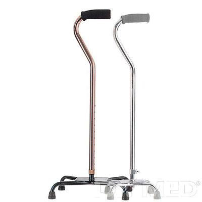 Quad Walking Stick or Walking Cane (swan type, 4 feet)
