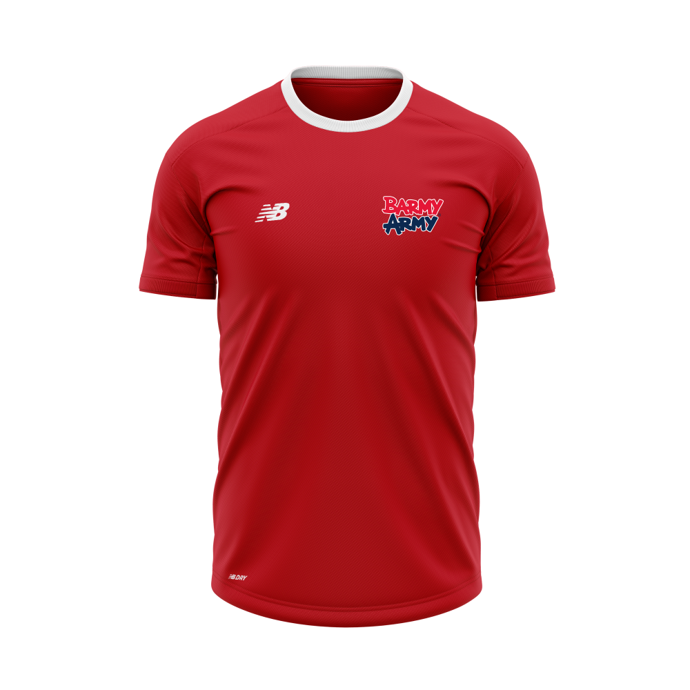 Barmy Army x NB - Performance T-Shirt - Red